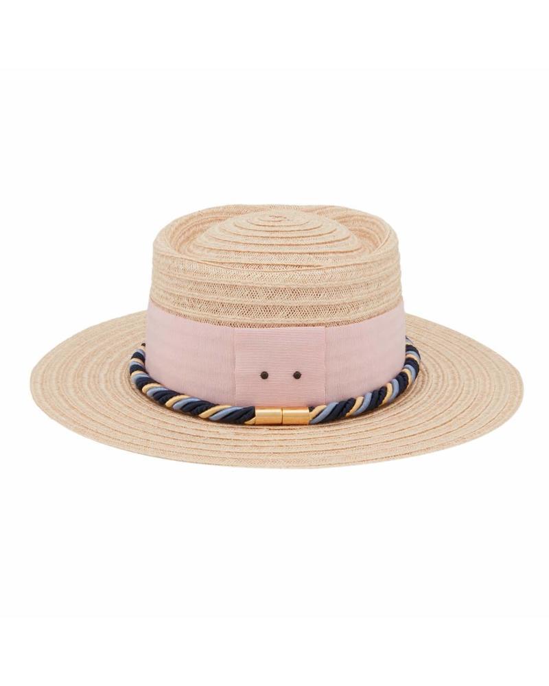 D'estrëe Gerhard straw hat - Naturel corde rose