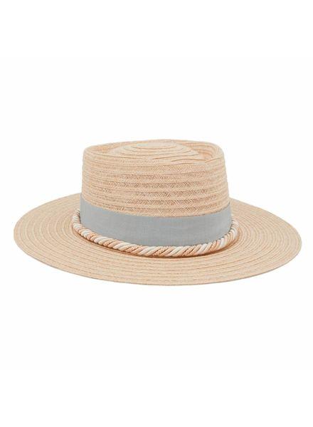 D'estrëe Gerhard straw hat - Naturel céladon