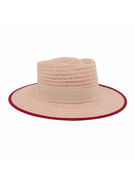 D'estrëe Gerhard straw hat - rose taupe