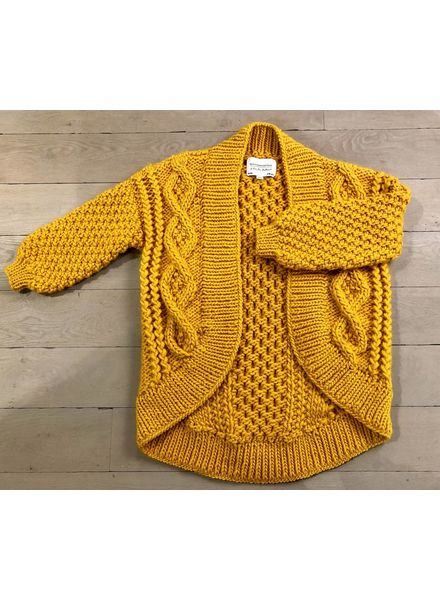 I Love Mr Mittens Aran coat wool - Mustard