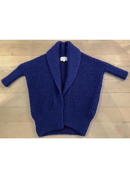 I Love Mr Mittens Pearl stitch Cardigan wool - Navy