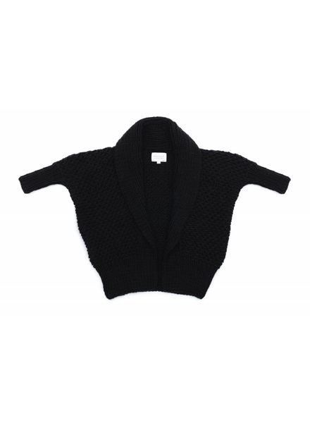 I Love Mr Mittens Pearl stitch cardigan wool - Black