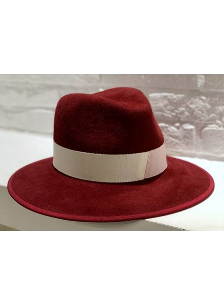 D'estrëe Christopher Rabbit Felt hat - Cerise