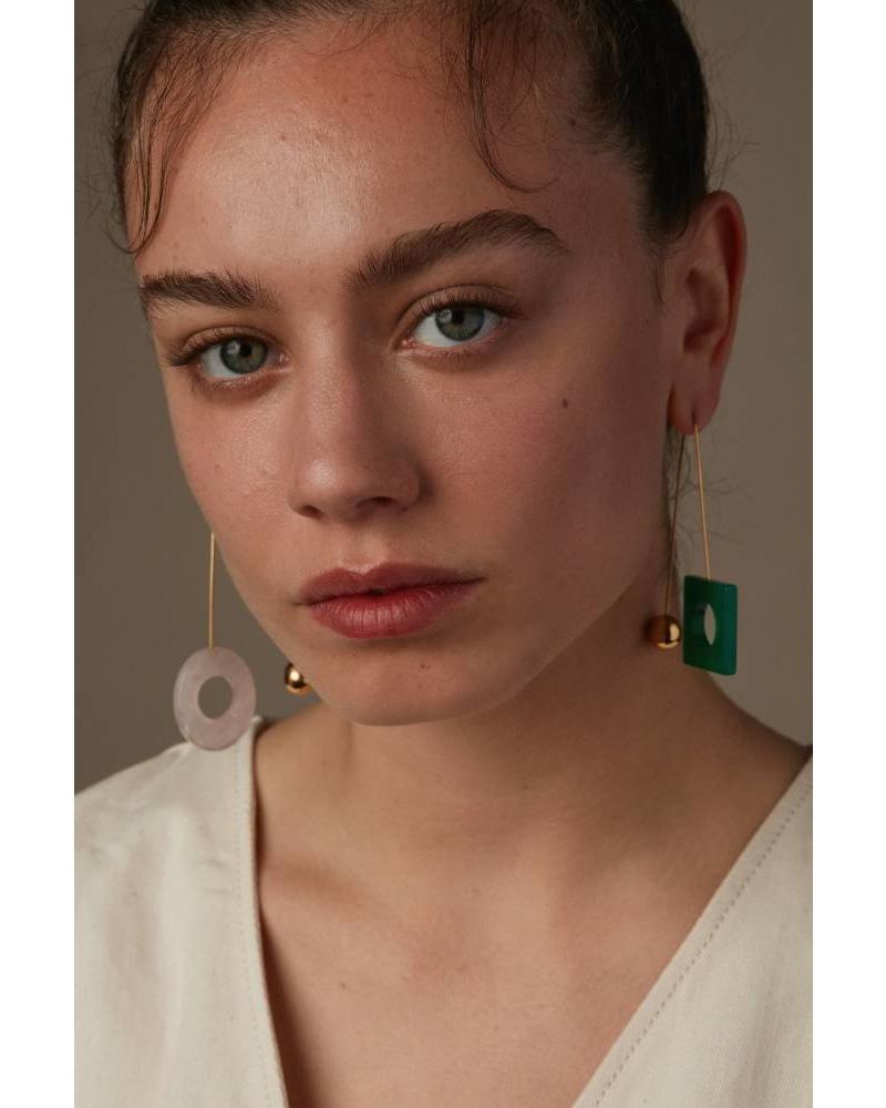 D'estrëe Sonia earring - Vertes Rose
