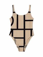 Totême Positano swimsuit - Beige monogram - size XS