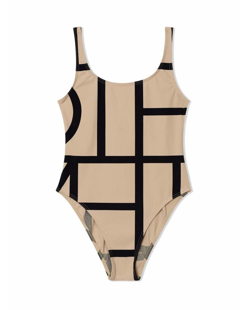 Totême Positano swimsuit - Beige monogram