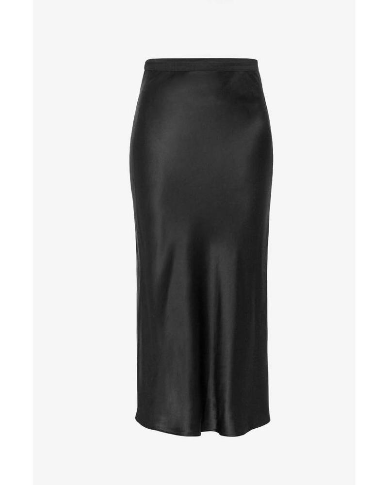Anine Bing Bar Silk Skirt - Black