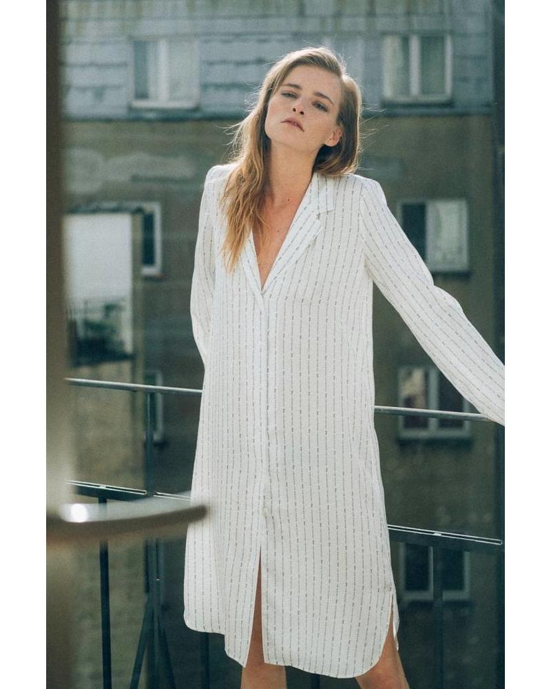 âme antwerp Agathe dress - Quotes print