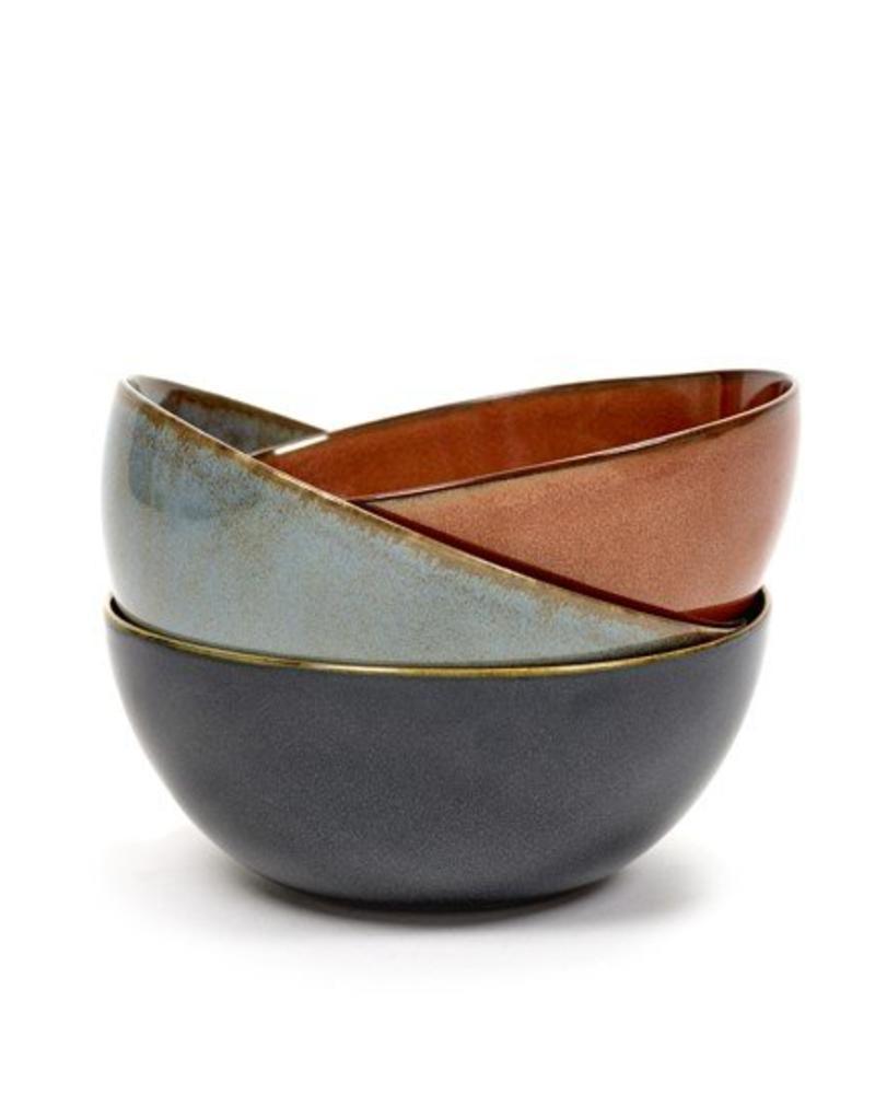 Anita Le Grelle for Serax Bowl L - Misty Grey/Dark Blue