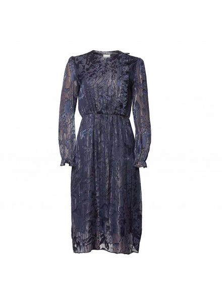 Julie Fagerholt Havin Dress - Dark Blue