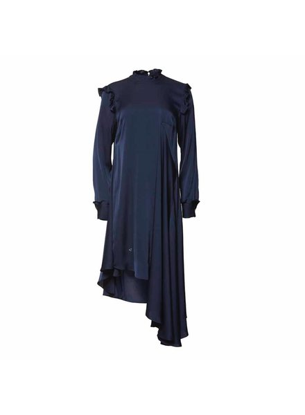 Julie Fagerholt Haya Dress - Dark Blue