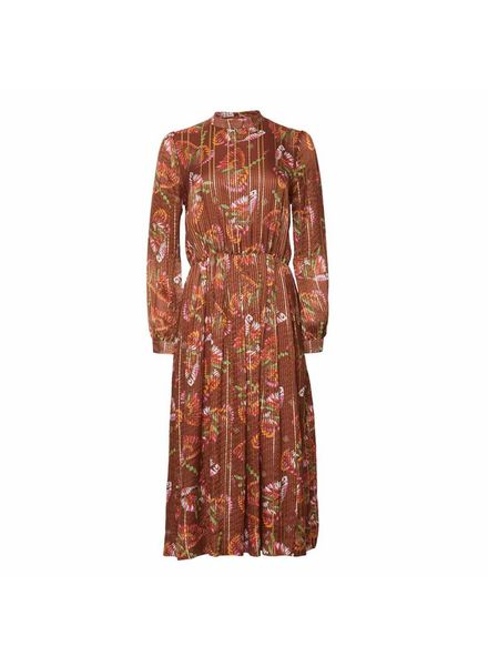 Julie Fagerholt Hemsley Dress - Brown Print