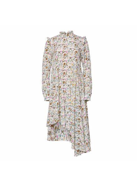 Julie Fagerholt Haya Dress - Off-White Print