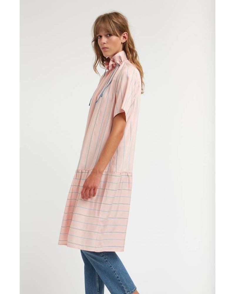 Wood Wood Delphine dress - Light Rose Stripe