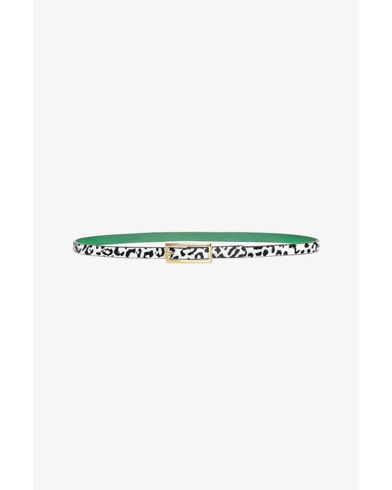 Anine Bing Thin Leather belt - Leo and green