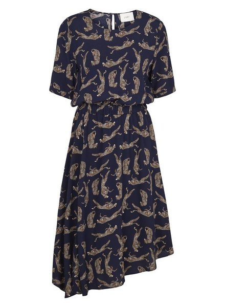 Just Female Welis dress - Leopard aop