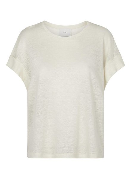 Just Female Lash tee - Tofu white
