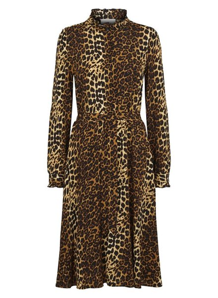 Just Female Elinor dress - Brown Leo
