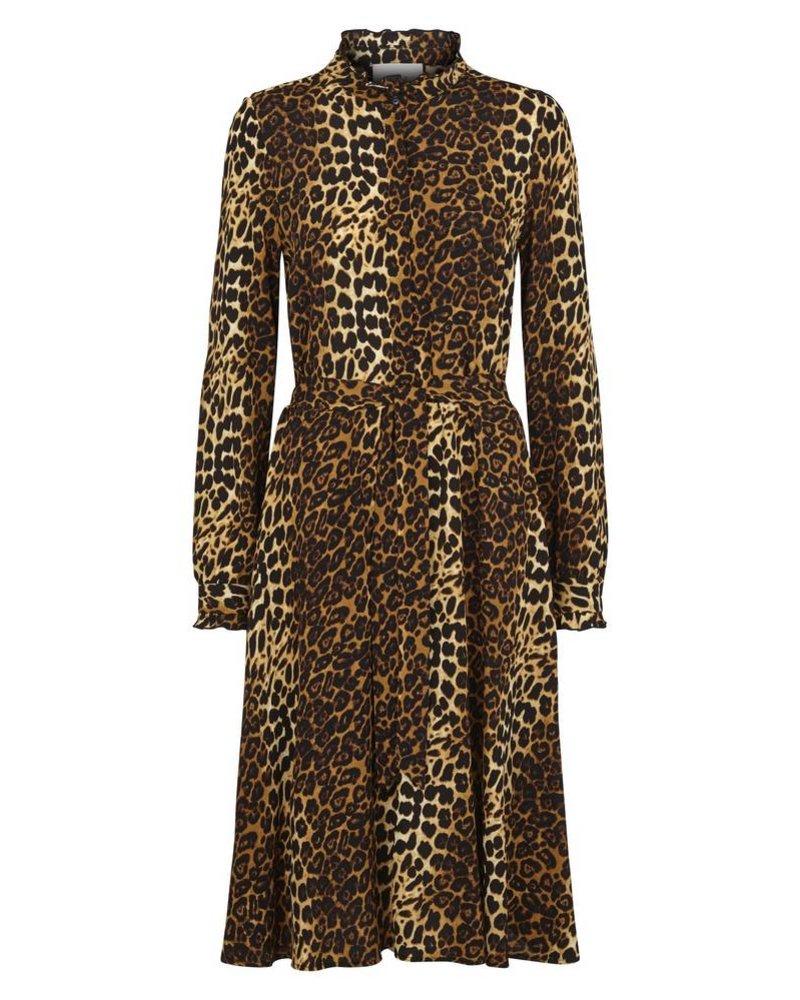 Just Female Elinor dress - Brown Leo