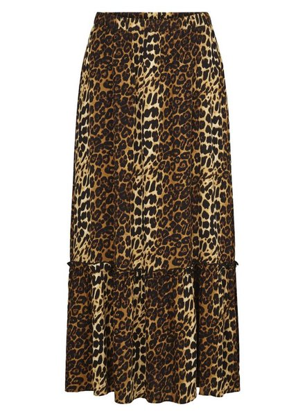 Just Female Elinor maxi skirt - Brown leo