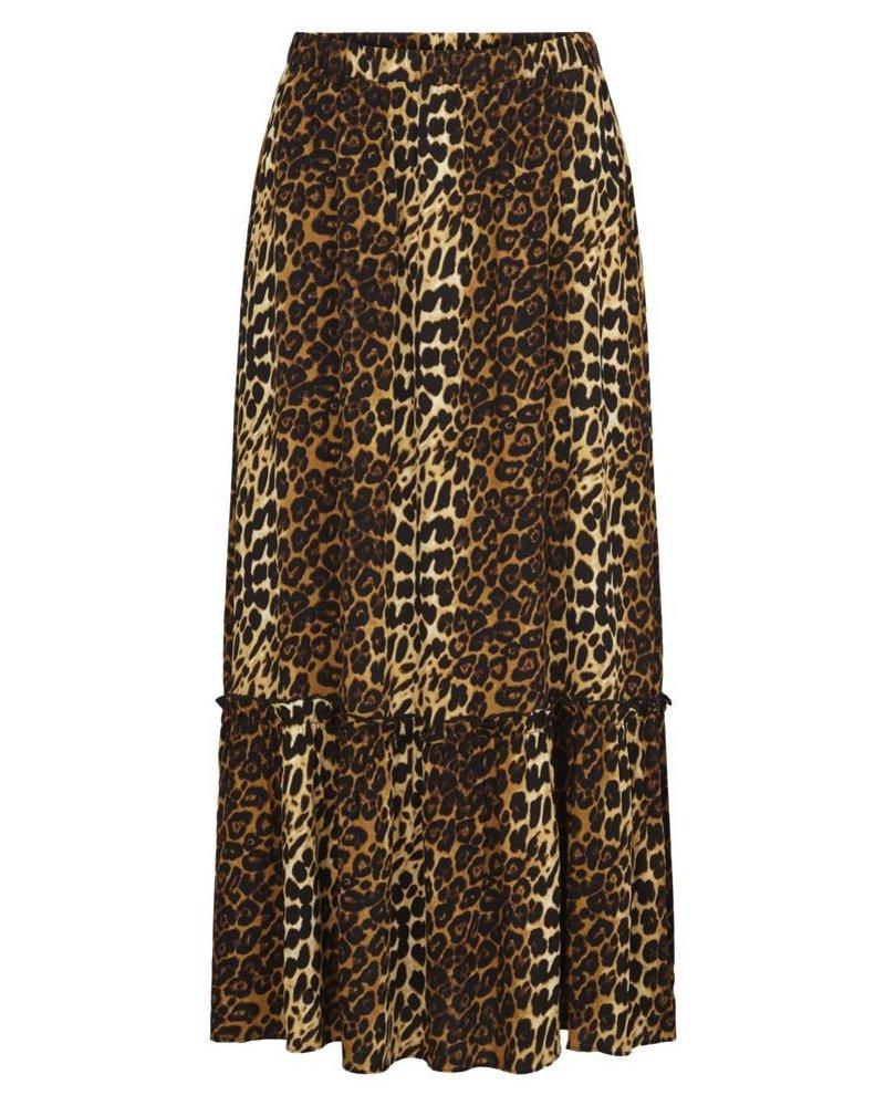 Just Female Elinor maxi skirt - Brown leo