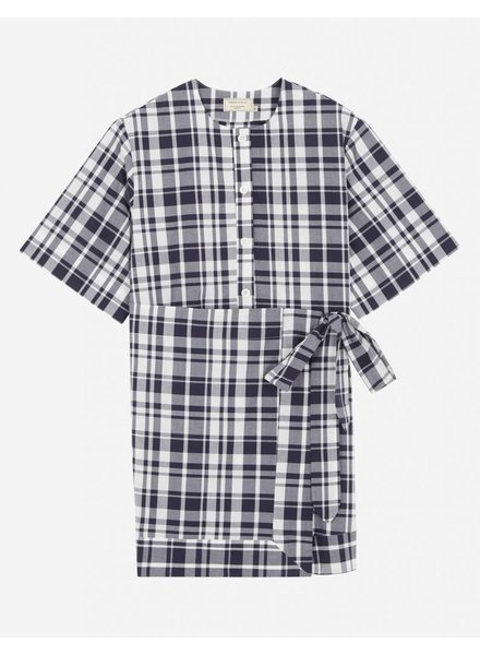 Maison Kitsuné Chloe Scarf Dress - Navy Check