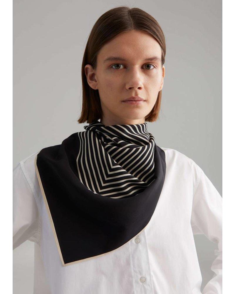 Totême Venezia scarf - Black monogram