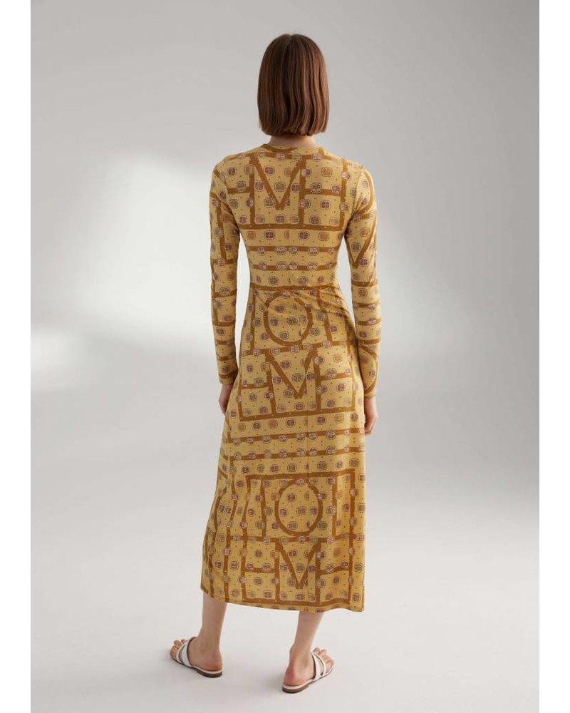 Totême Salou dress - Yellow Monogram