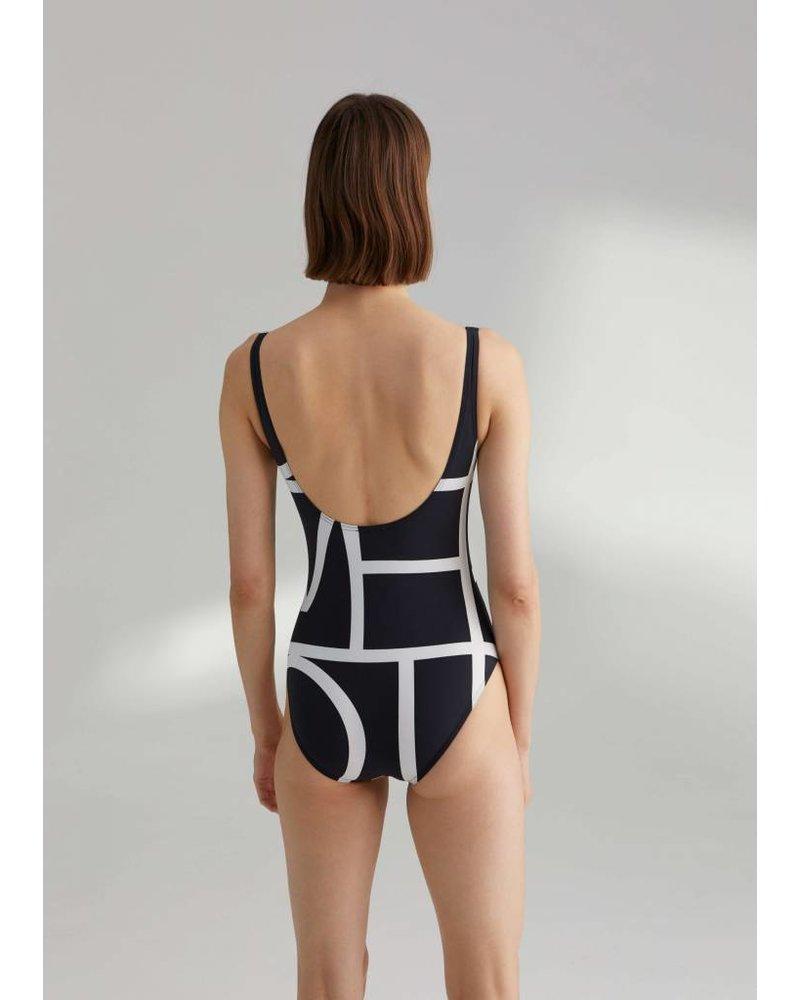 Totême Positano swimsuit - Negative Monogram