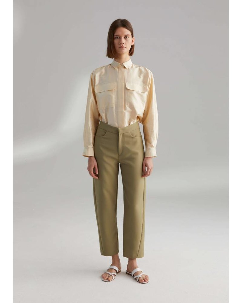 Totême Novara trousers - Moss