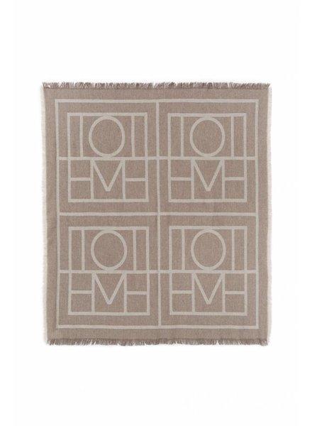 Totême Como scarf - Tobacco Monogram