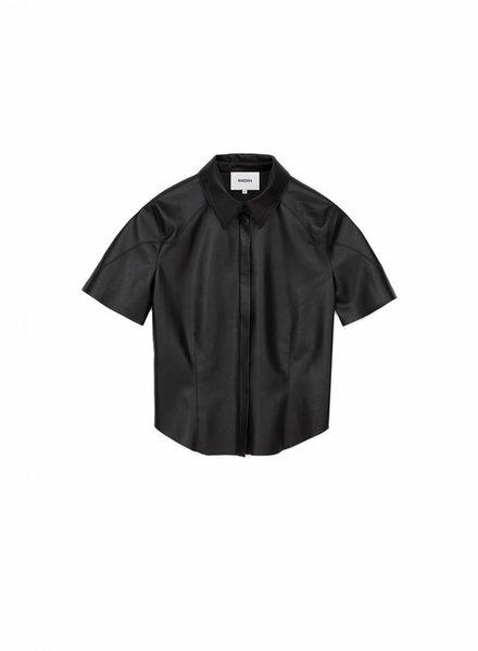 Nanushka Clare shirt - Black