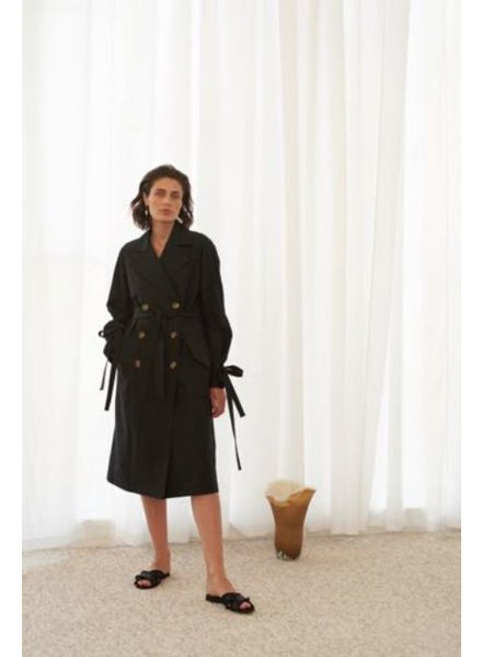 Le Brand Trench - Black