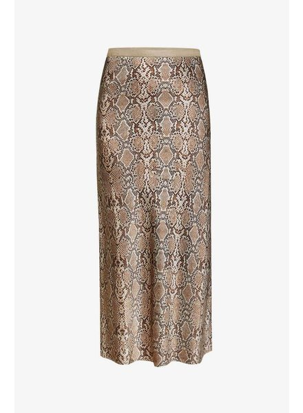 Anine Bing Bar silk skirt - Python