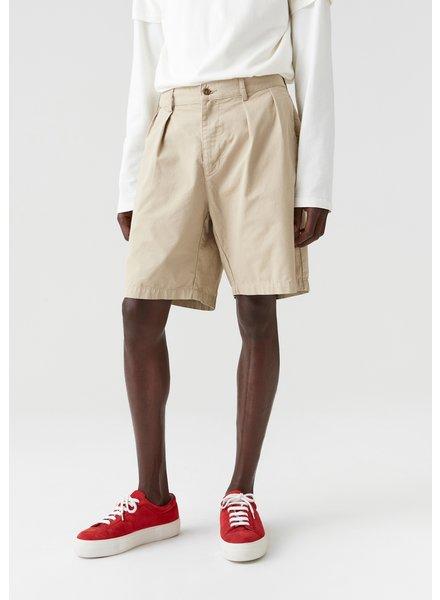 Hope Tuck Shorts - Oat Beige - size 52