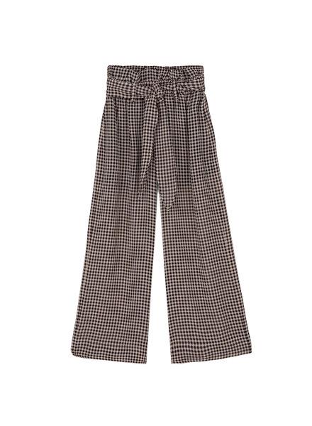 Nanushka Ines Paperbag Pants - Black/Camel
