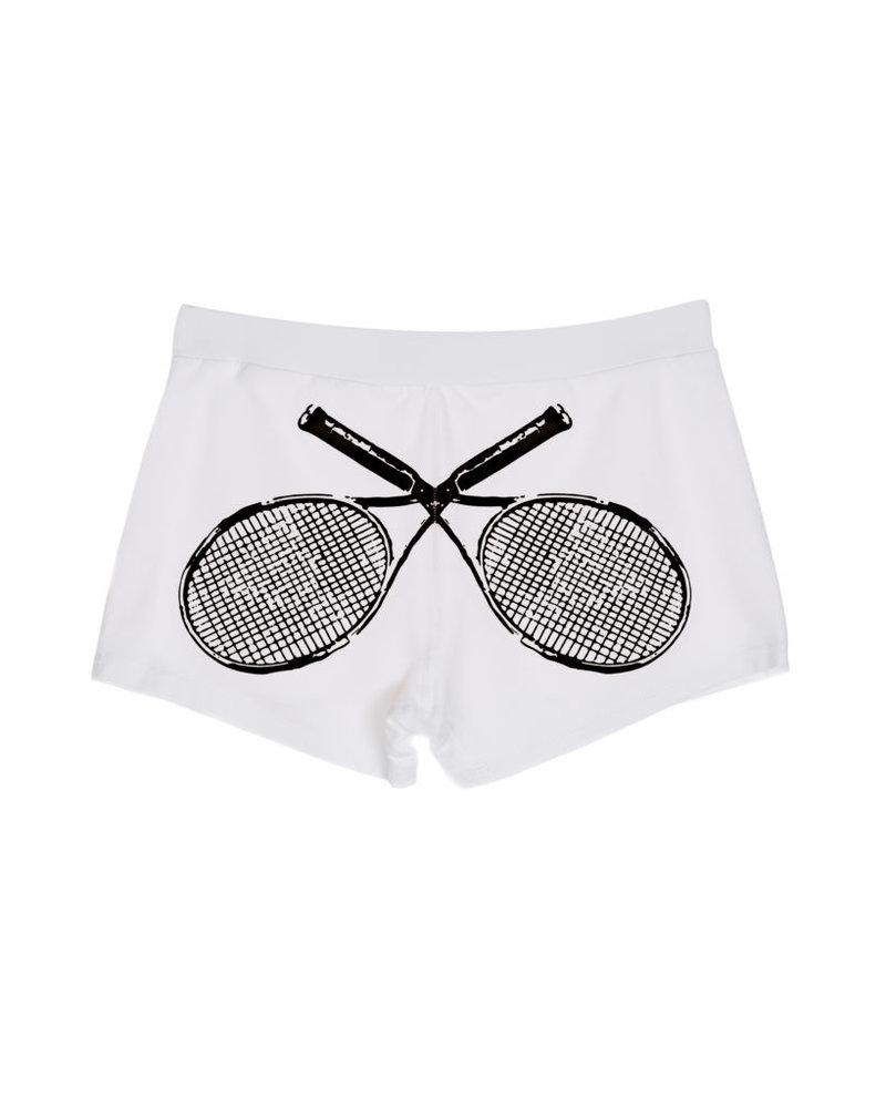 Vieux Jeu Marie Racket Short - White