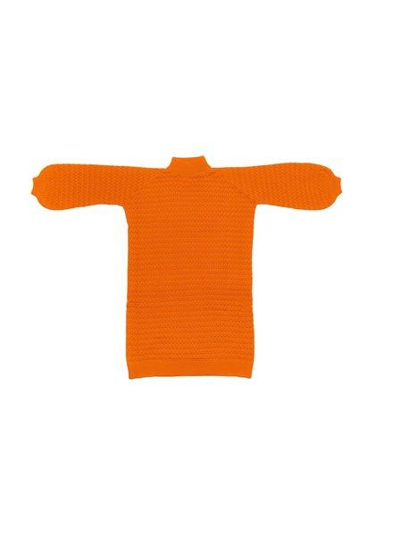 I Love Mr Mittens Lace Maxi Dress Cotton - Tangerine