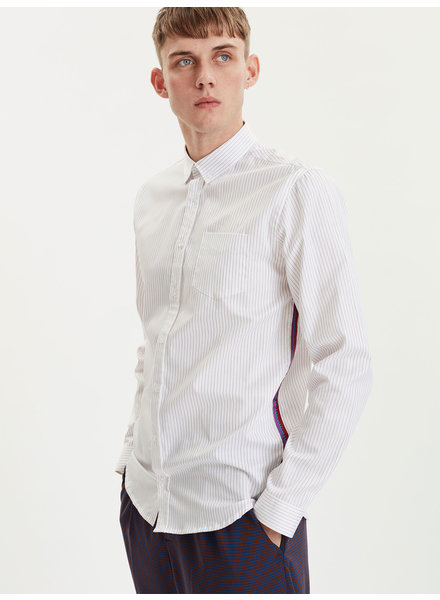 Libertine Libertine Hunter Ribbon shirt - Red Pinstripe
