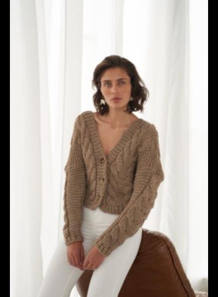 Le Brand Bomber Sweater - Capuccino