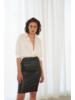 Le Brand Strech Midi Skirt