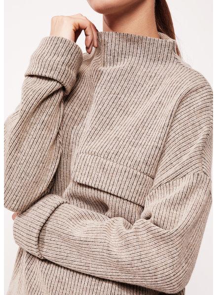 StudioRuig Sweater Sonny Wool rib - Sand
