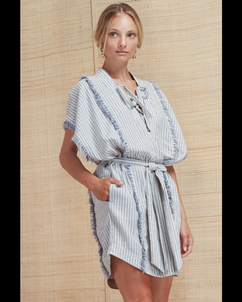 Magali Pascal Touareg Dress - Blue/White Stripe