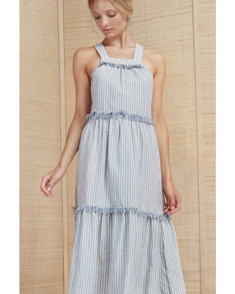 Magali Pascal Sabrine Maxi Dress - Blue/White Stripe