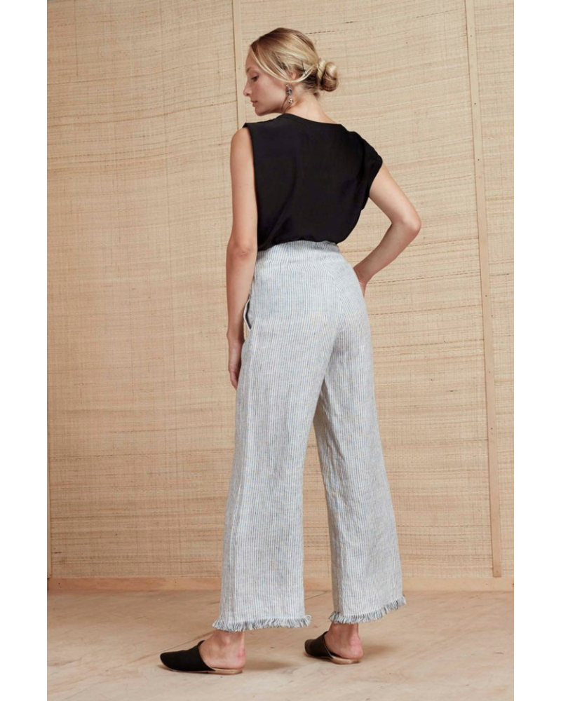 Magali Pascal Ibiza Pant - White/Black Stripe