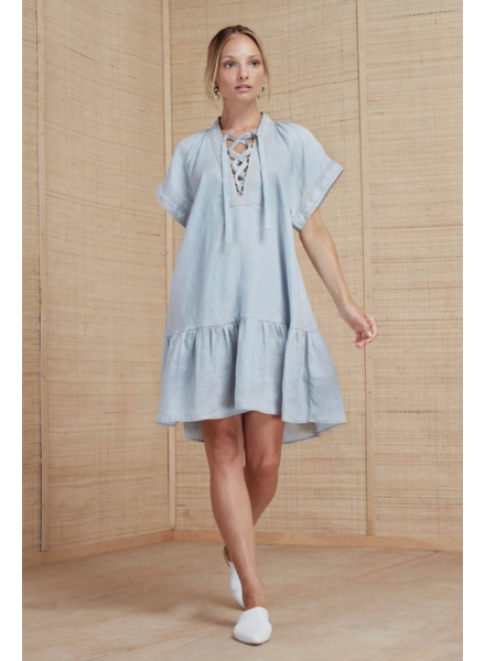 Magali Pascal Alea Dress - Grey Blue