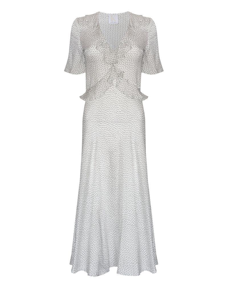 Kelly Love Dancing light Dress - Black & White Spot