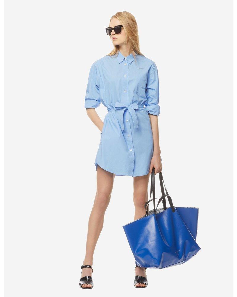 Maison Kitsuné Poplin Gio Shirt Dress - Light Blue