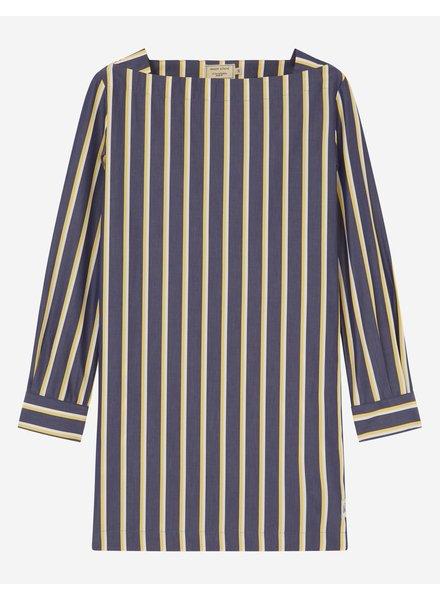 Maison Kitsuné Cara Dress - Navy Stripe