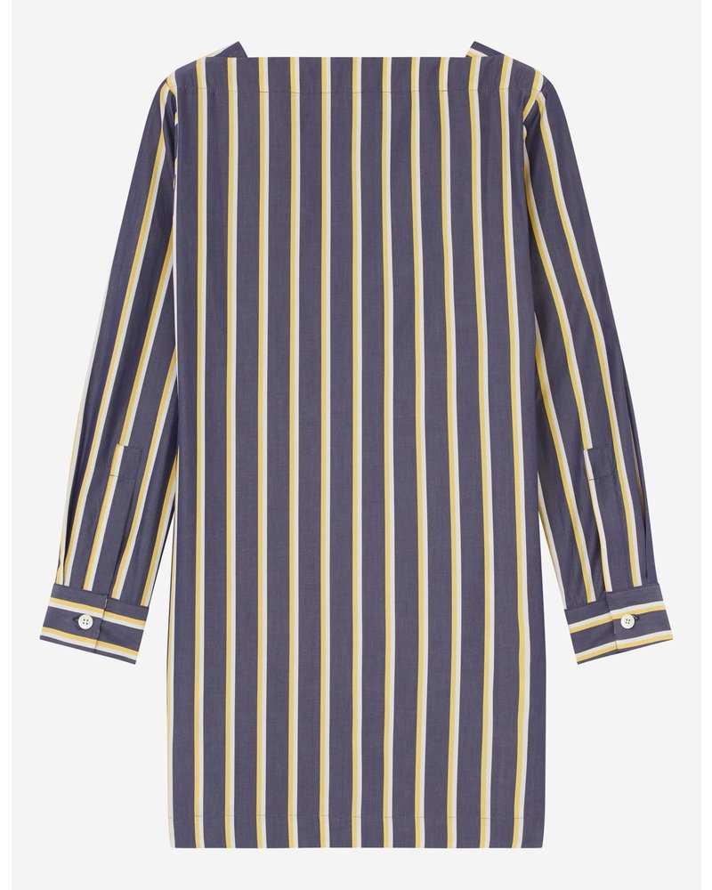 Maison Kitsuné Cara Dress - Navy Stripe